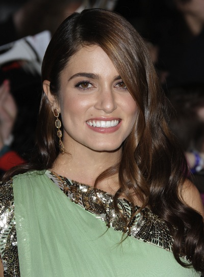Nikki Reed Long, Curly, Sophisticated, Brunette Hairstyle