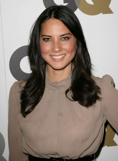 Olivia Munn Medium, Straight, Black Hairstyle