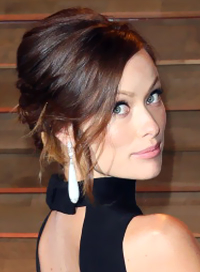 Olivia Wilde Formal, Brunette, Sophisticated, Updo Hairstyle Pictures