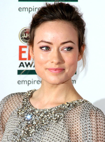 Olivia Wilde's Medium, Tousled, Updo Hairstyle