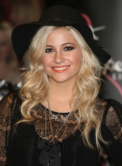 Pixie Lott Long, Wavy, Blonde Hairstyle