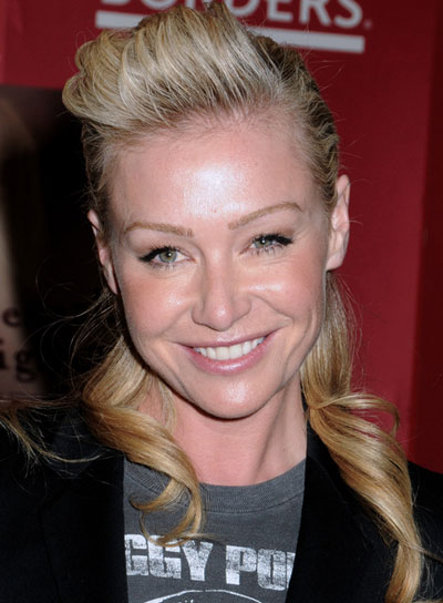 Portia de Rossi Long, Edgy, Funky, Blonde Ponytail