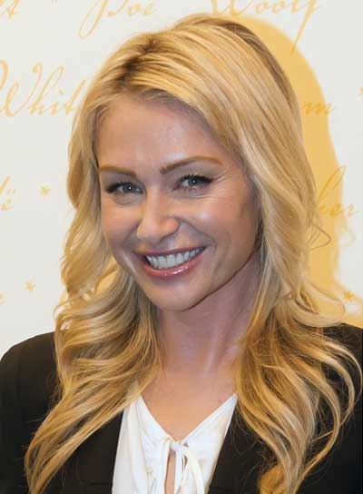 Portia de Rossi Long, Wavy, Blonde Hairstyle