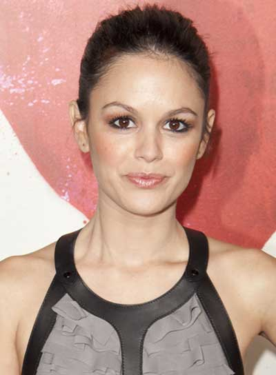 Rachel Bilson's Straight, Sophisticated, Brunette Updo