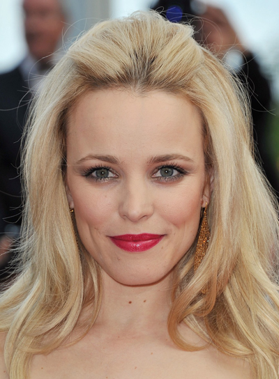 Rachel McAdams Romantic, Tousled, Blonde Hairstyle