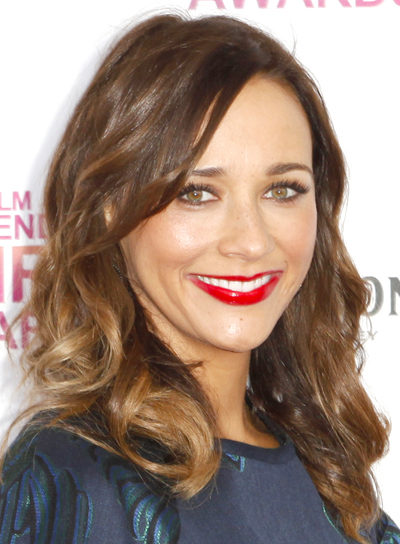 Rashida Jones' Brunette, Medium, Wavy, Tousled Hairstyle