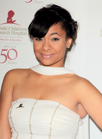Raven Symone Black, Party Updo with Bangs