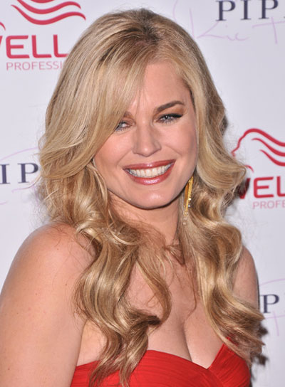 Rebecca Romijn Wavy, Sexy, Romantic, Blonde Hairstyle