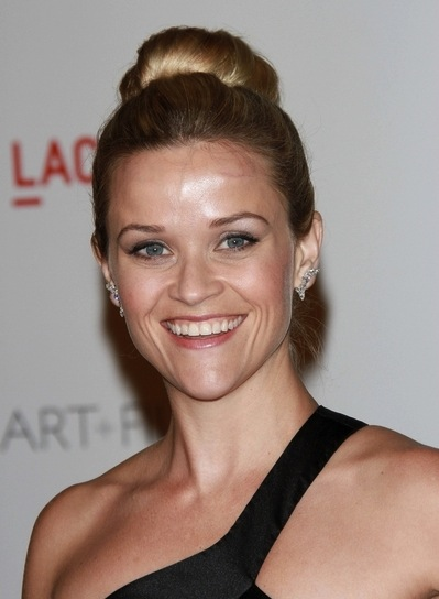 Reese Witherspoon Chic, Straight, Sophisticated, Blonde Updo