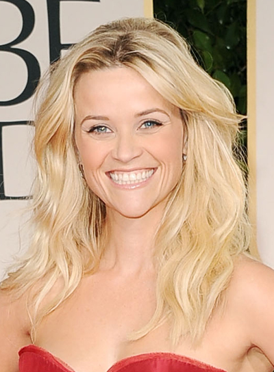 Reese Witherspoon Chic, Tousled, Wavy, Blonde Hairstyle