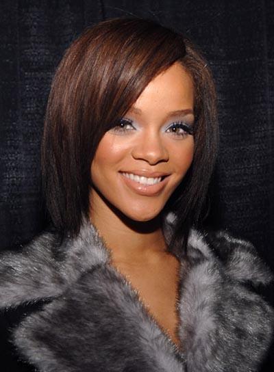 Rihanna Medium, Straight Bob