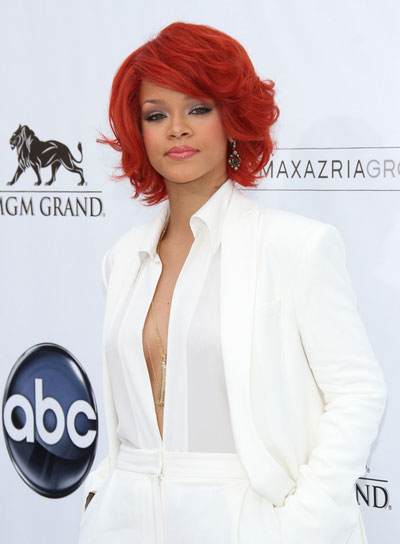 Rihanna Short, Red Hairstyle