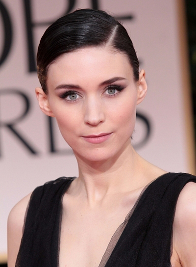 Rooney Mara Chic, Sophisticated, Romantic, Black Updo