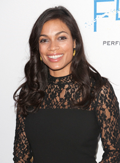 Rosario Dawson's Long, Romantic, Wavy, Brunette, Hairstyle