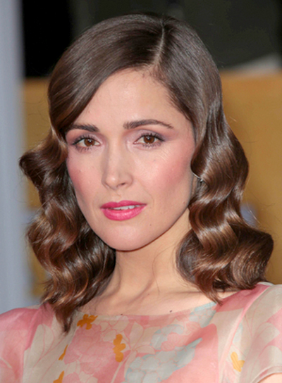 Rose Byrne's Wavy, Brunette, Medium, Formal Hairstyle