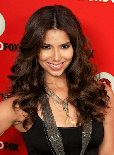 Roselyn Sanchez's Long, Wavy, Tousled, Brunette Hairstyle
