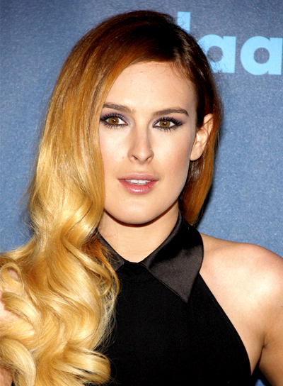 Rumer Willis' Long, Romantic, Wavy, Formal Hairstyle