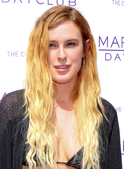 Rumer Willis' Long, Tousled, Wavy, Blonde Hairstyle