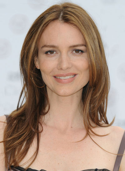 Saffron Burrows Long, Straight, Sexy, Brunette Hairstyle