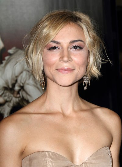 Samaire Armstrong Short, Wavy, Blonde Updo