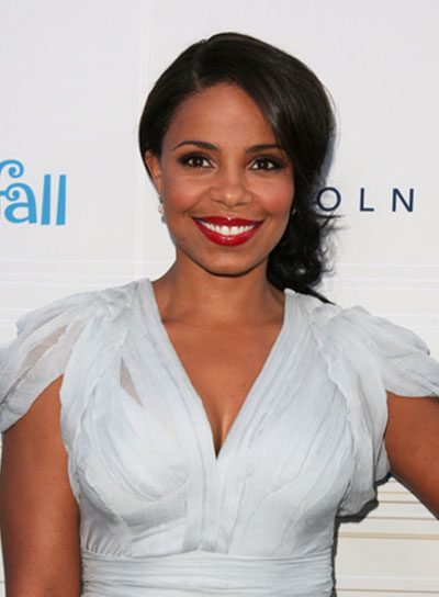 Sanaa Lathan Medium, Curly, Sophisticated, Black Updo