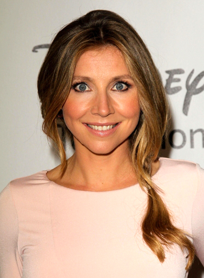 Sarah Chalke's Long, Romantic, Blonde Hairstyle with Braids and Twists