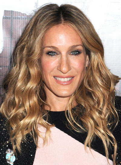 Sarah Jessica Parker Wavy, Romantic, Blonde Hairstyle
