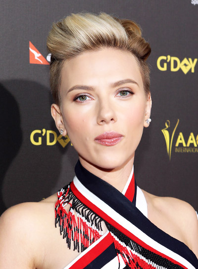 Scarlett Johansson with a Blonde, Short, Edgy, Funky Hairstyle Pictures