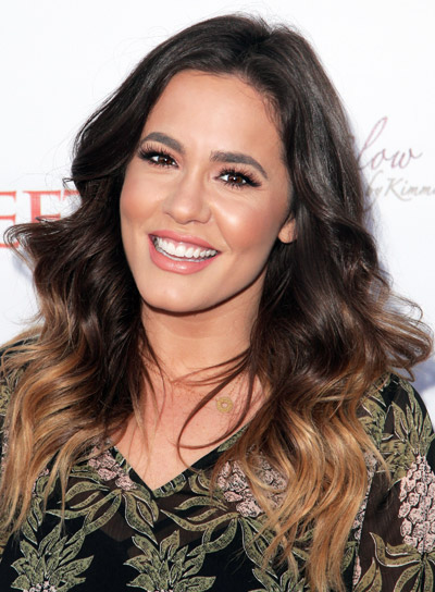 Shae Wilbur's a Long, Brunette, Wavy, Chic, Layered Hairstyle