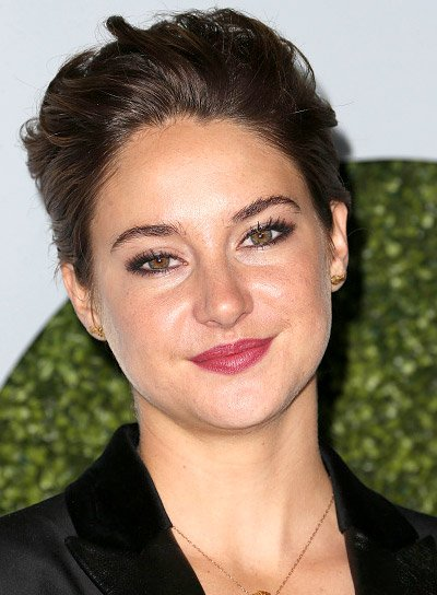 Shailene Woodley with a Short, Brunette, Straight, Edgy Hairstyle Pictures