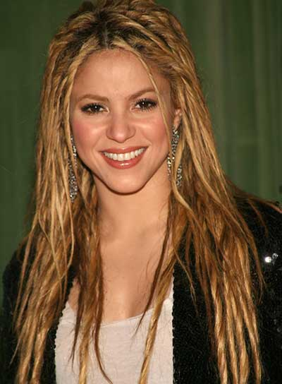 Shakira Long, Funky Hairstyle with Braids and Twists