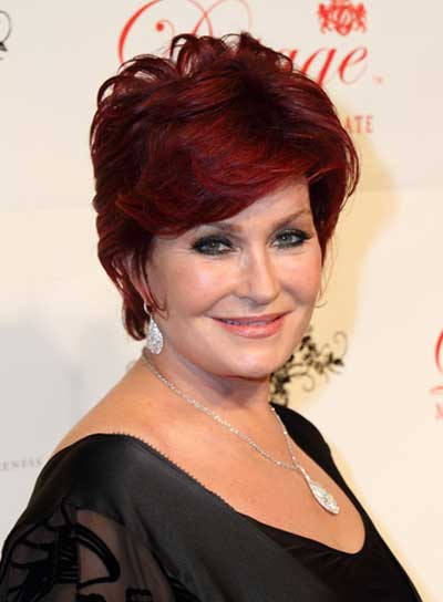 sharon osbourne hair style hairstyles with bangs for faces riot 7812 | sharon osbourne short red