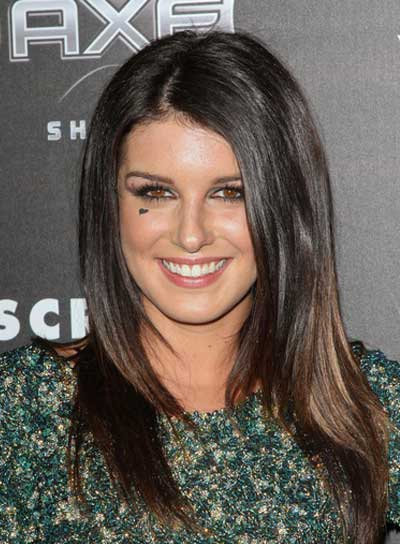 Shenae Grimes Straight, Layered, Brunette Hairstyle