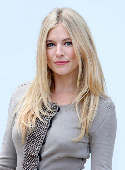 Sienna Miller Long, Layered, Blonde Hairstyle