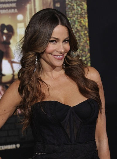 Sofia Vergara Long, Curly, Brunette Hairstyle