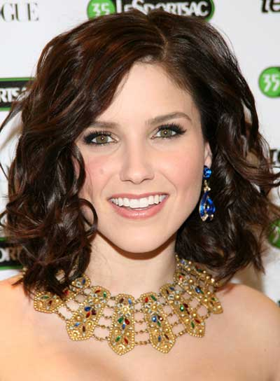 Sophia Bush Curly, Sophisticated, Brunette Hairstyle