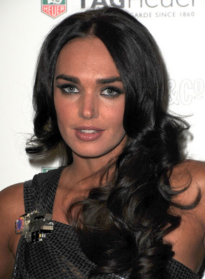 Tamara Ecclestone Long, Curly, Sexy, Black Hairstyle