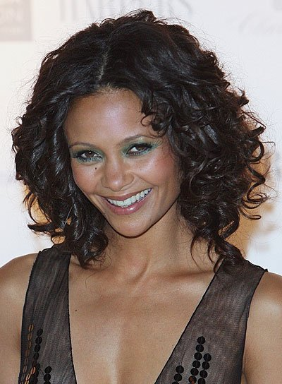 Thandie Newton Black, Curly, Romantic Hairstyle
