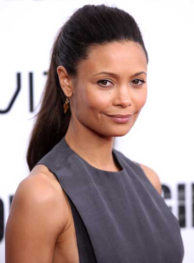 Thandie Newton Long, Straight, Black Ponytail