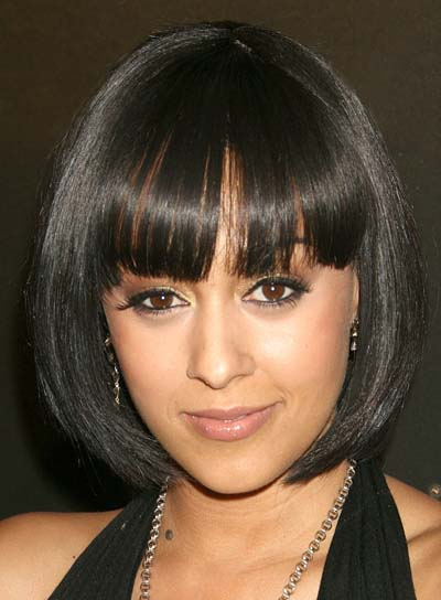 Tia Mowry Short Bob with Bangs