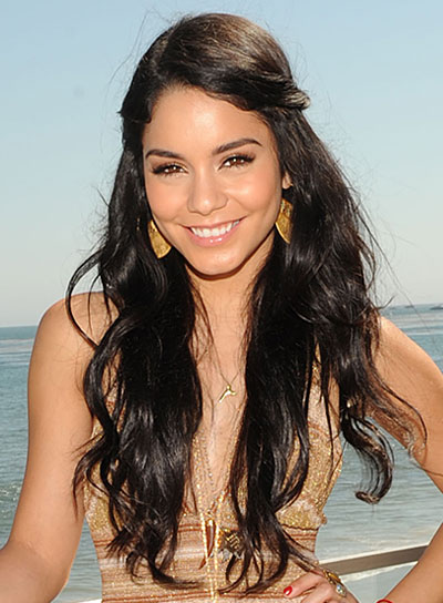 Vanessa Hudgens Long, Tousled Hairstyle with Braids and Twists