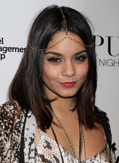 Vanessa Hudgens Short, Straight, Chic, Brunette Hairstyle