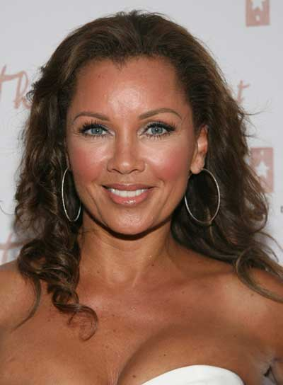 Vanessa Williams Curly, Sophisticated, Brunette Hairstyle