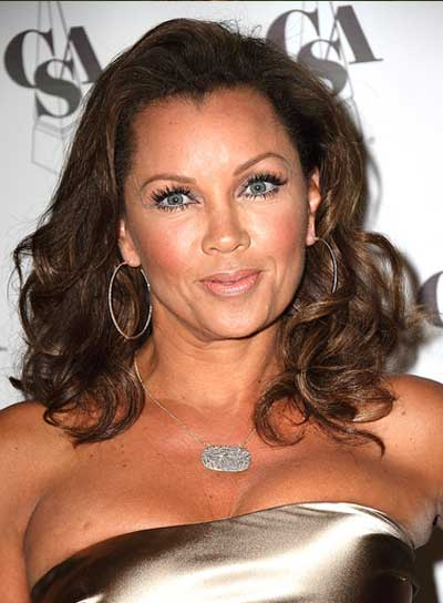 Vanessa Williams Medium, Curly, Brunette Hairstyle