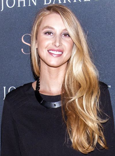 Whitney Port's Long, Blonde, Tousled, Romantic Hairstyle
