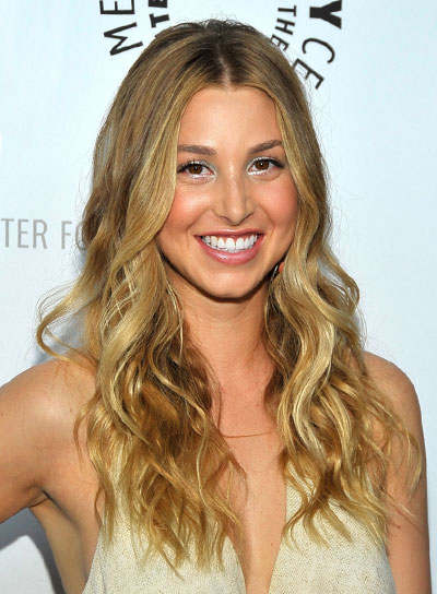 Whitney Port Long, Wavy, Blonde Hairstyle